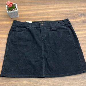 🆕 Old Navy Black Corduroy Short Skirt size 10